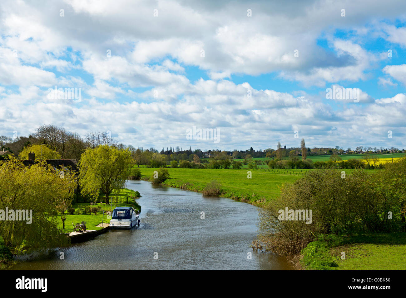 The River Nene at Wansford, Cambridgeshire, England UK - Stock Image