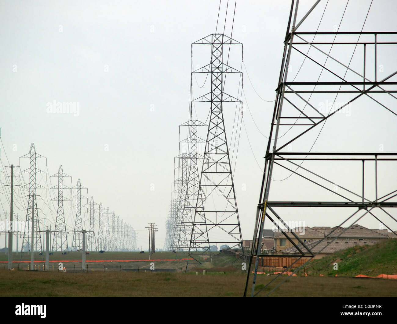 Power Lines With Poles Stock Photos & Power Lines With Poles Stock ...