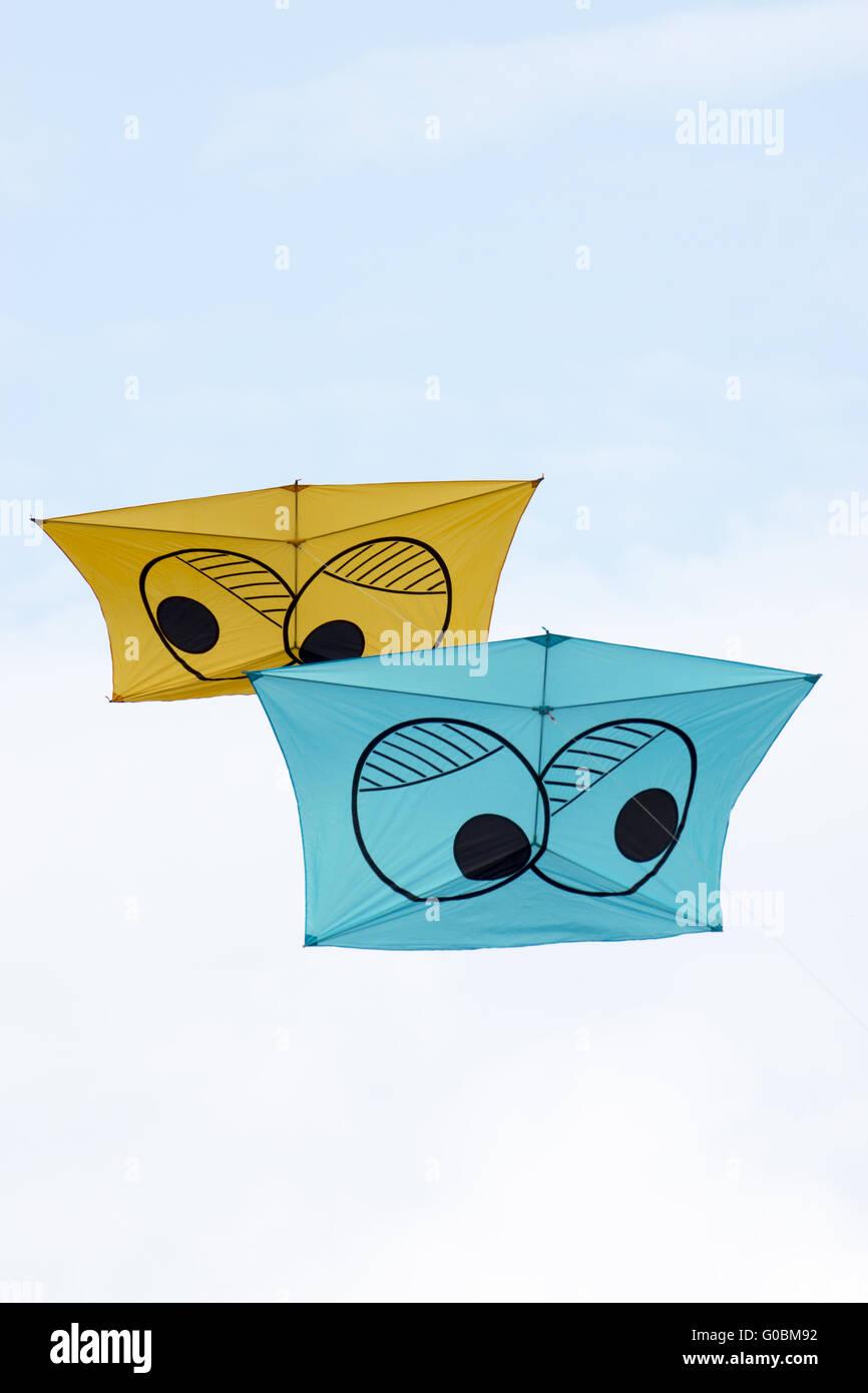 Kites on a kite-festival - Stock Image