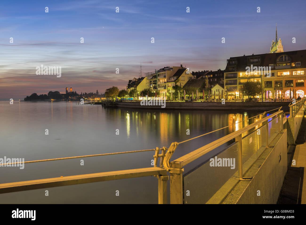 Friedrichshafen | harbor bridge to the tower Stock Photo