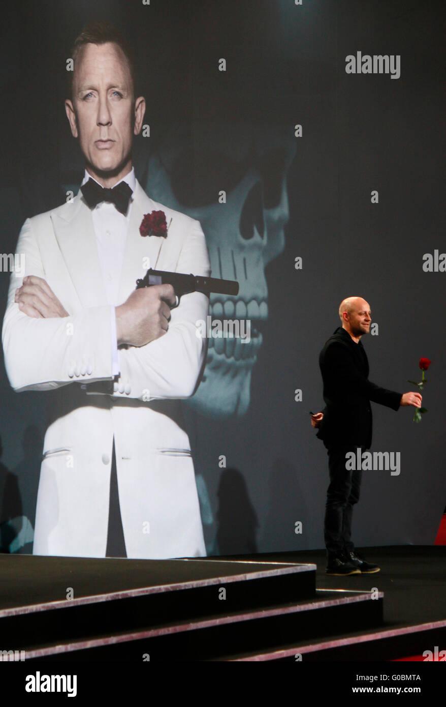 Juergen Vogel - Deutschlandpremiere des neuen James Bond 007 Spielfilms 'Spectre', Sony Center, Potsdamer - Stock Image