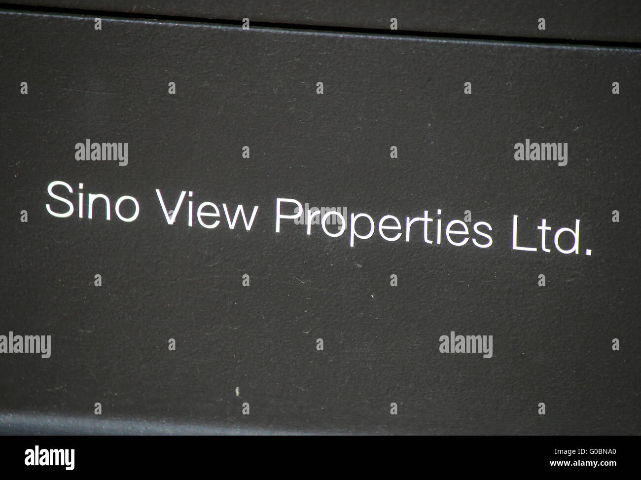 das Logo der Marke 'Sino View Properties', Berlin. - Stock Image