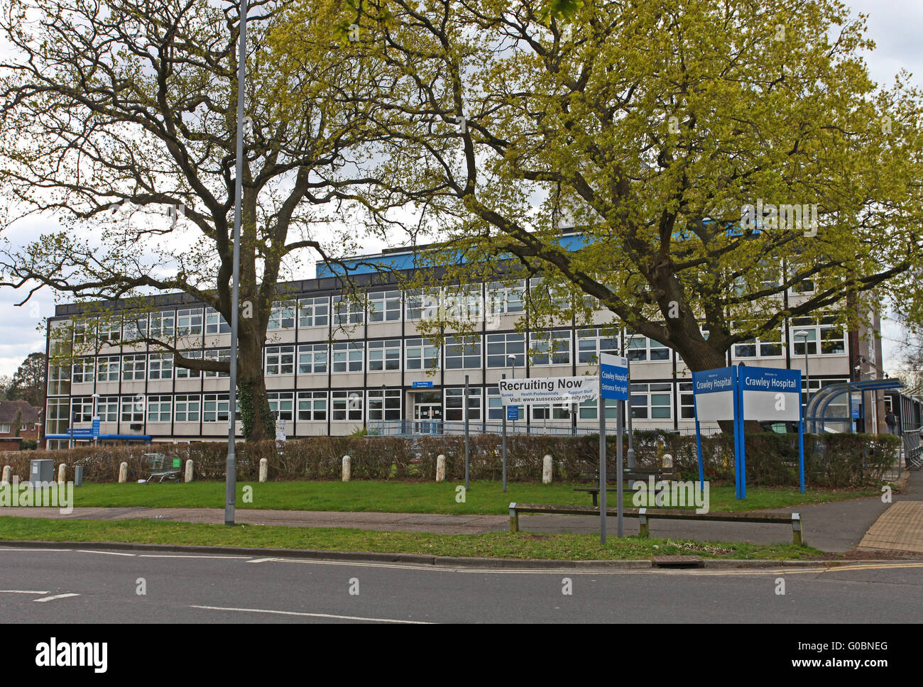 View of Crawley NHS Hospital - Stock Image