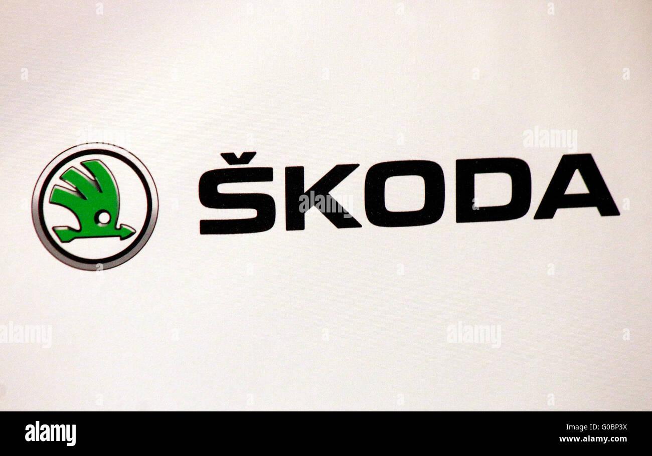 Markennamen: 'Skoda', Berlin. - Stock Image