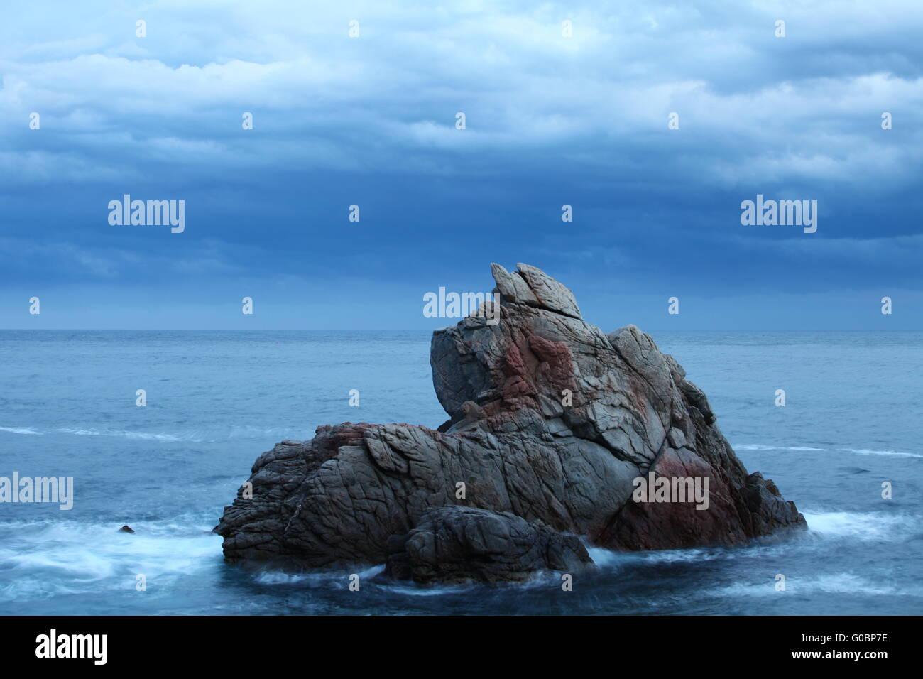 Dramatic seascape - Stock Image