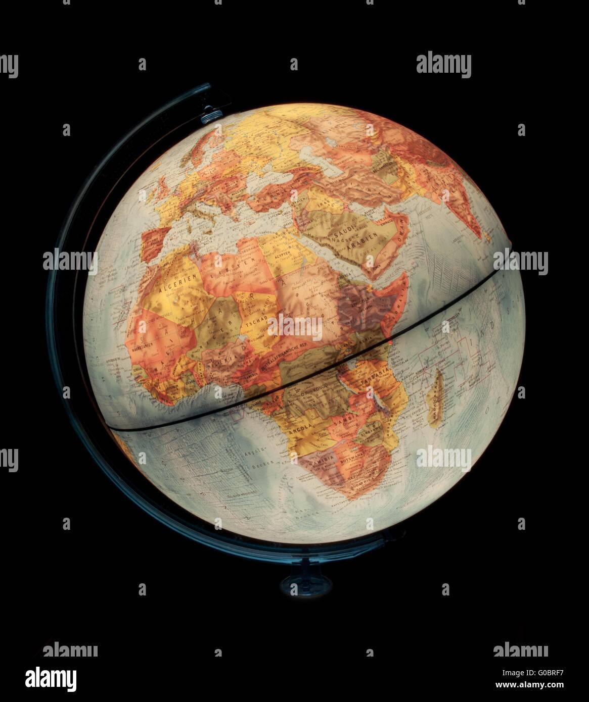 illuminated globe Stock Photo