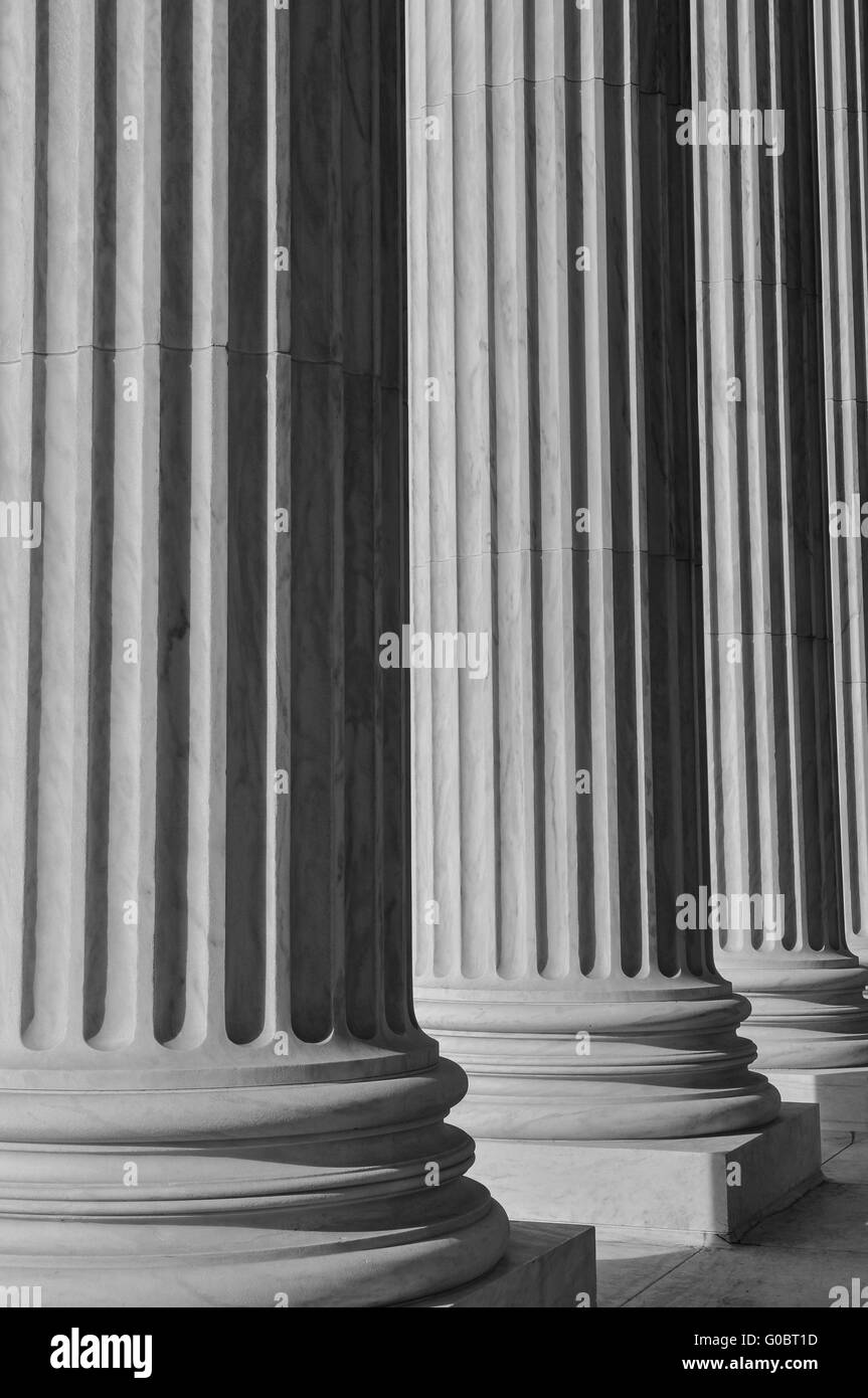 Columns at the Supreme Court of the United States - Stock Image
