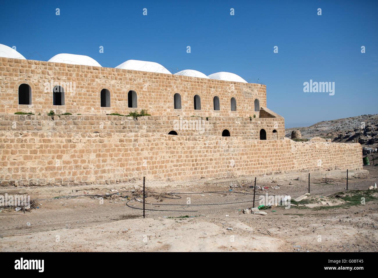 Nabi Musa site in the Judean desert , Israel - Stock Image