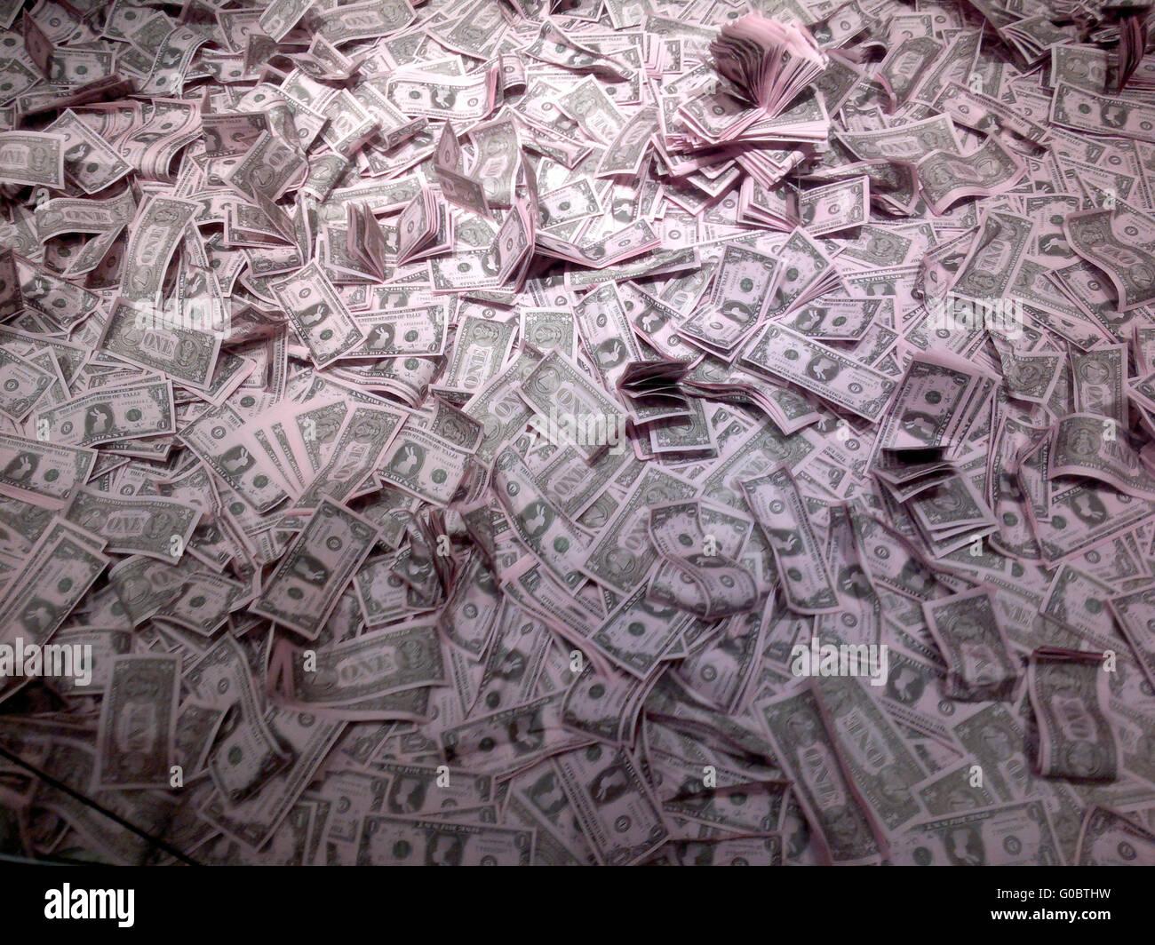 Geld: US Dollar, Berlin. - Stock Image