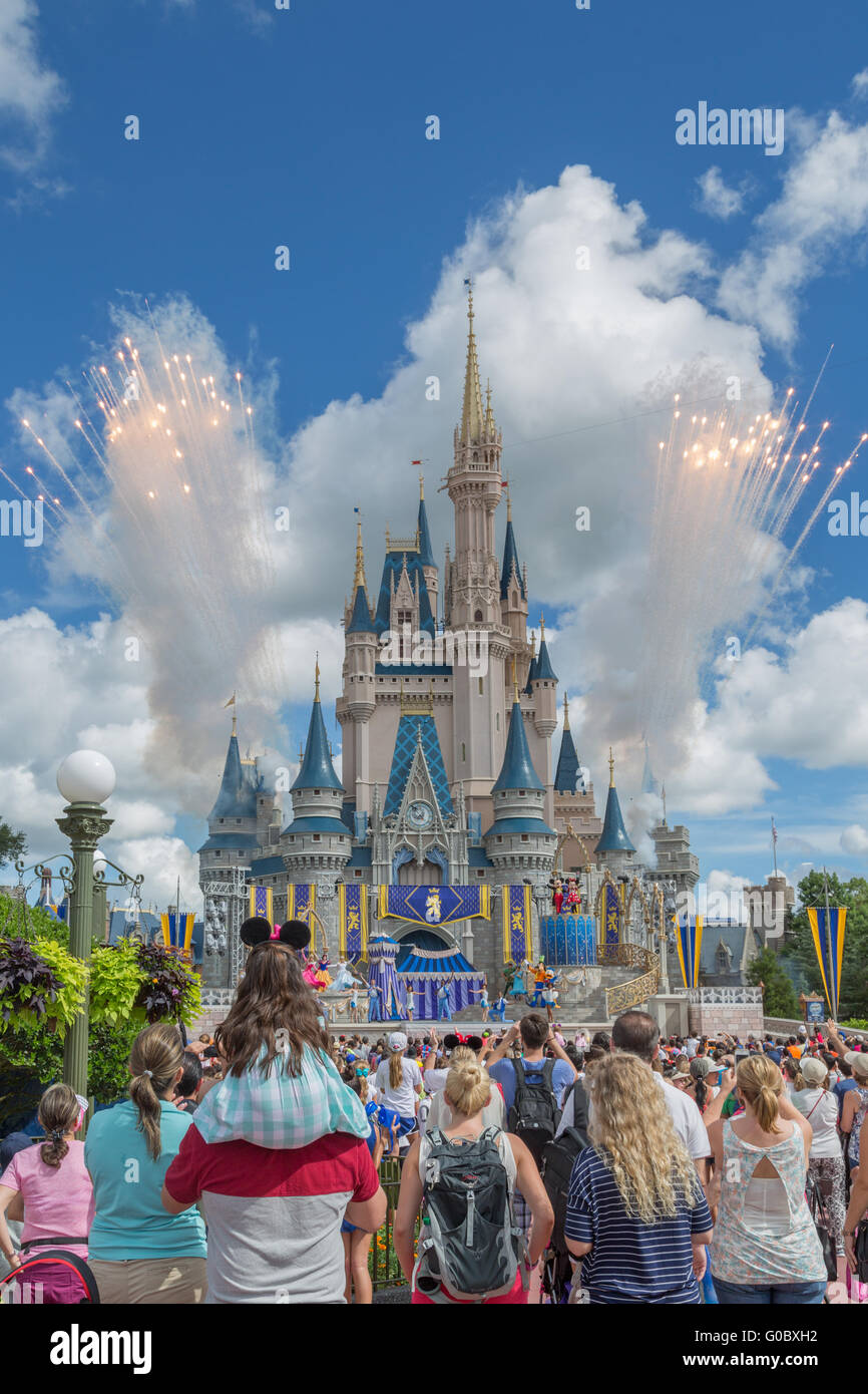 Fireworks at the Magic Kingdom - Stock Image