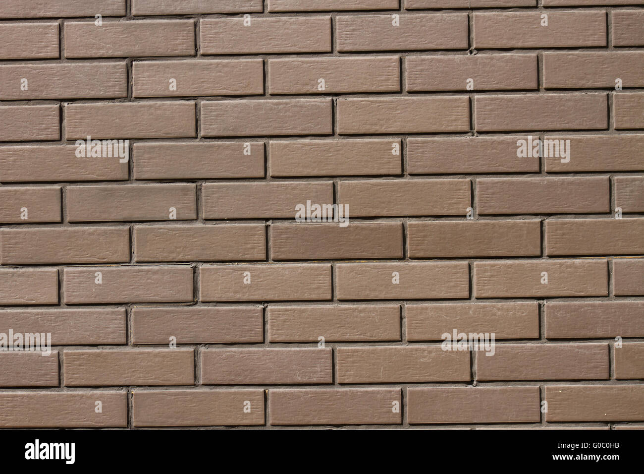 Background. Red brick with white veins - Stock Image