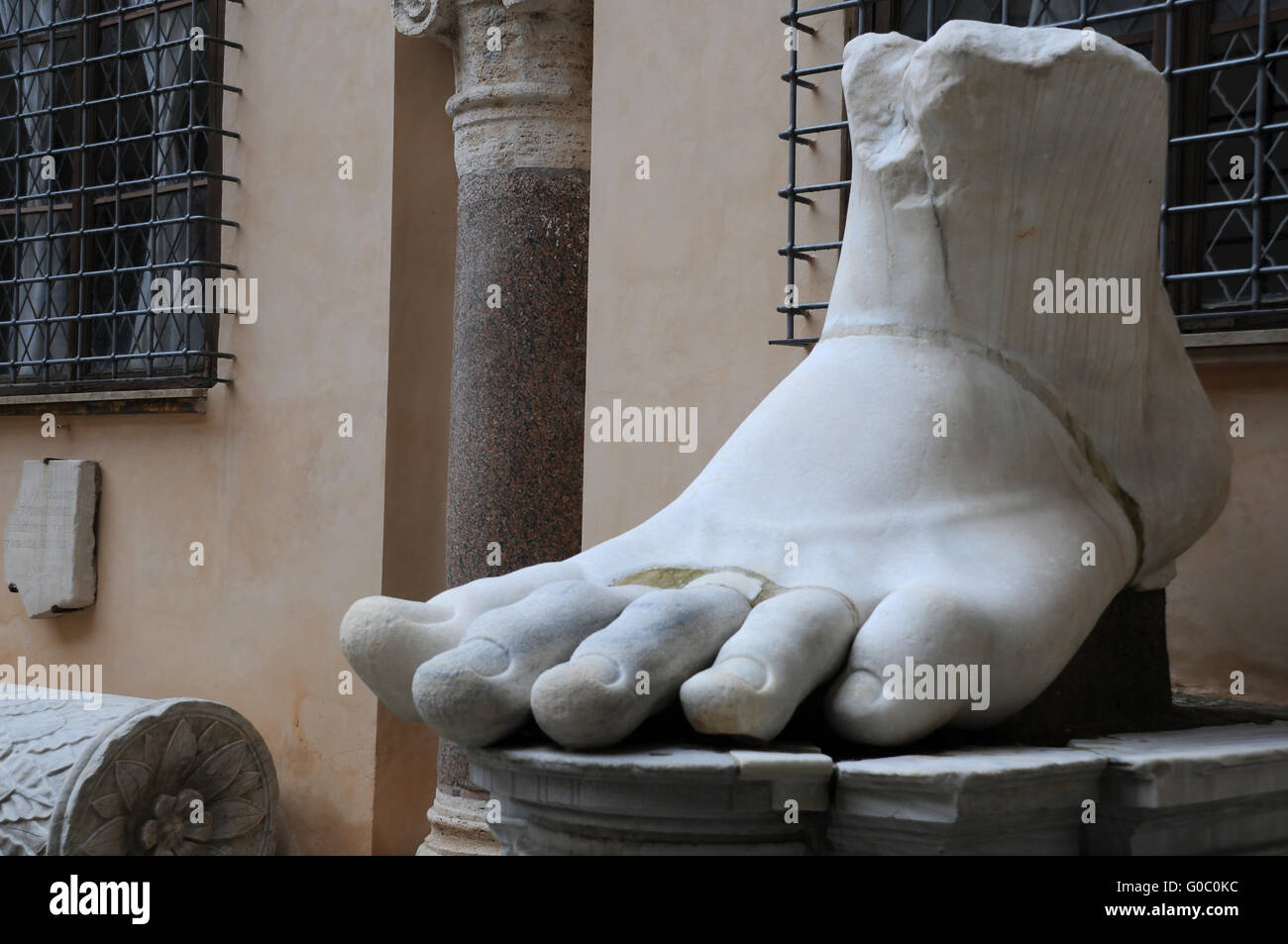 Left Foot of Colossus of Constantine - Stock Image