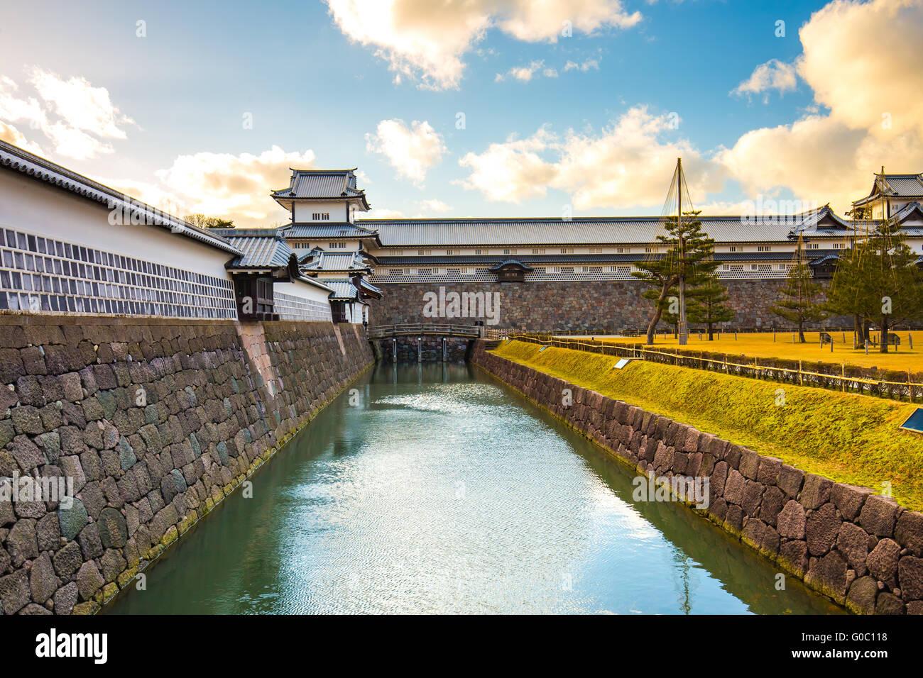 Kanazawa Castle in Kanazawa, Japan. - Stock Image