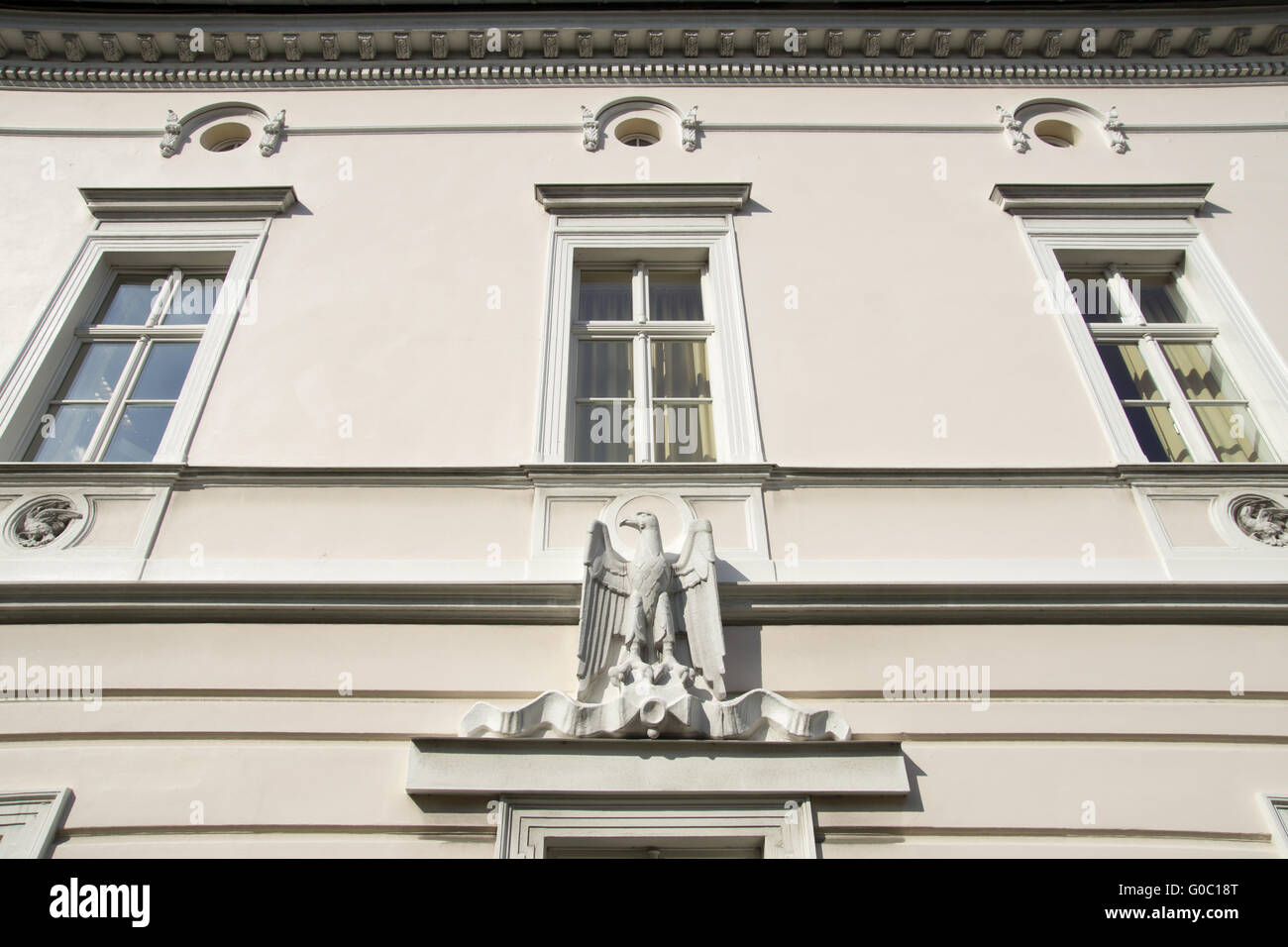 Facade of the old postoffice in Unna, Germany - Stock Image