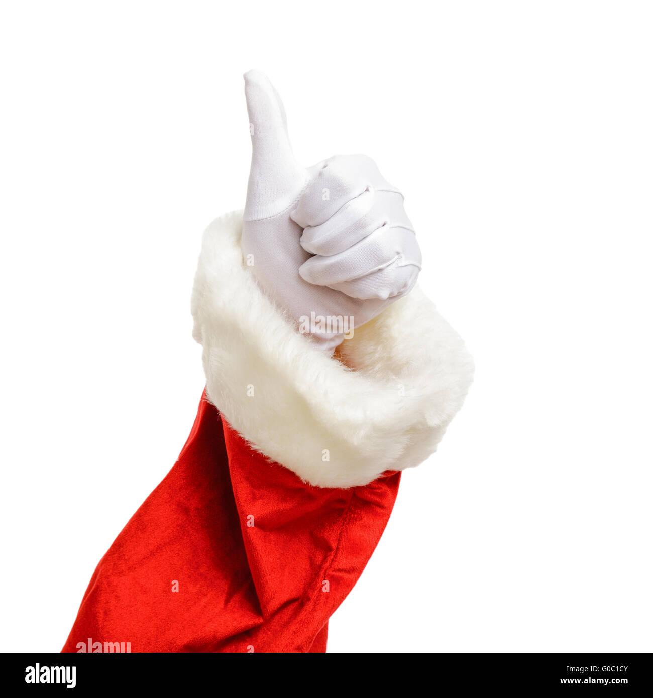 Christmas thumbs up - Stock Image