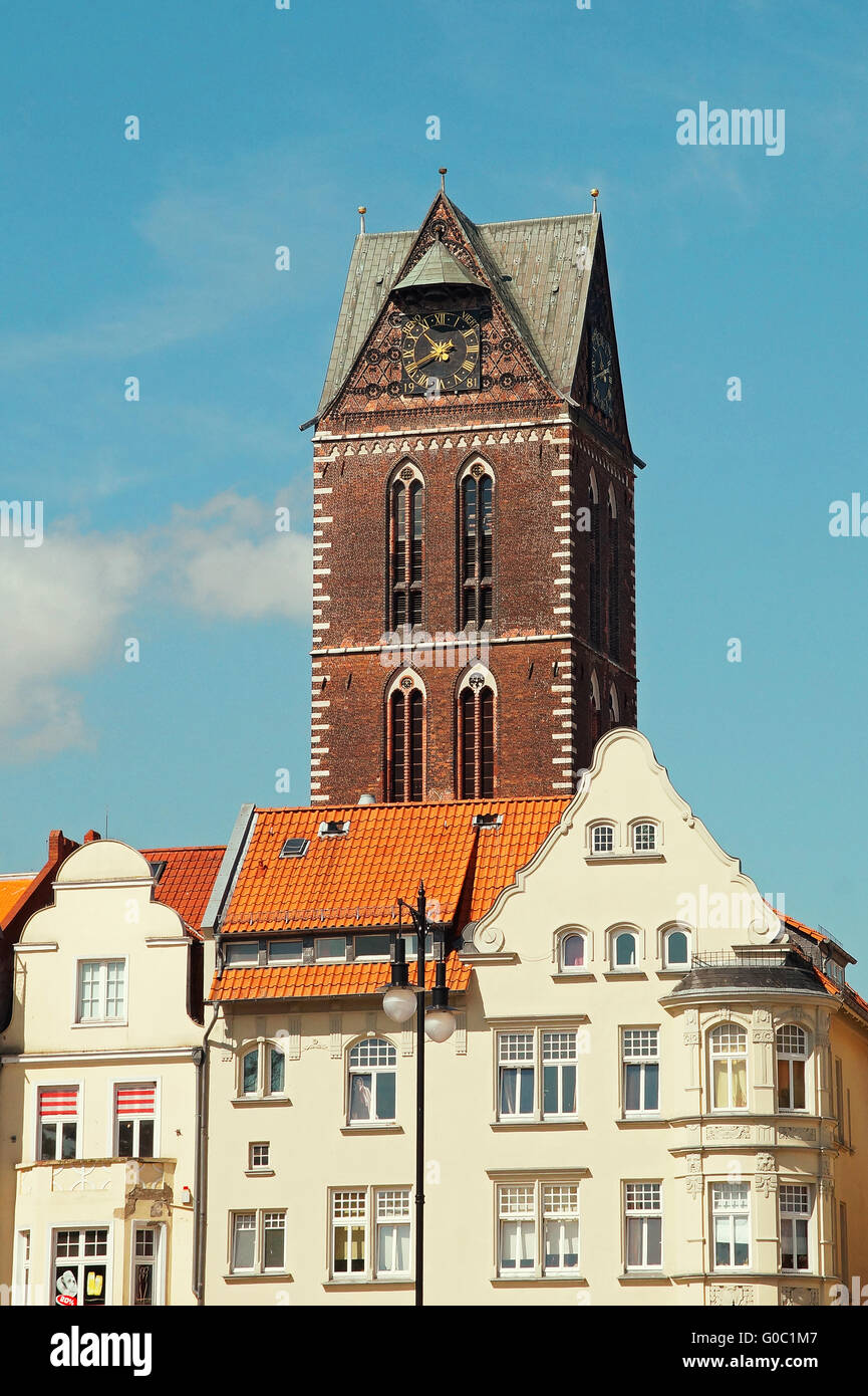 Church of St. Mary Hanseatic City Wismar Germany - Stock Image