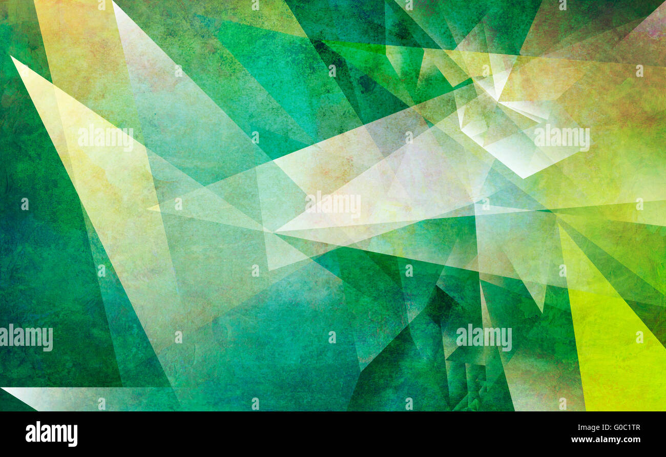 abstract polygonal mixed media - Stock Image