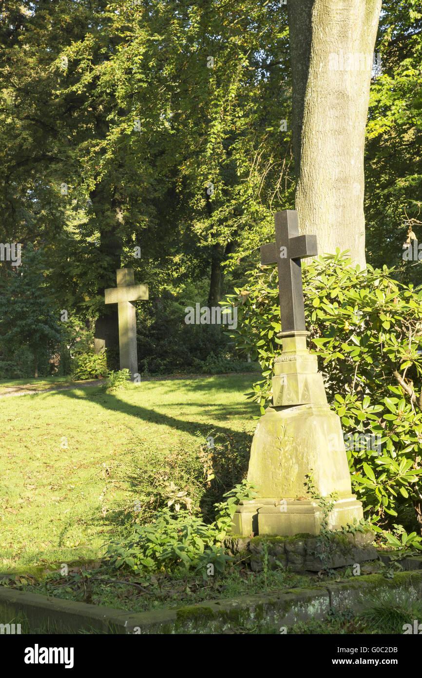 Old Graveyard at the Lohtor, Recklinghausen, Germa - Stock Image