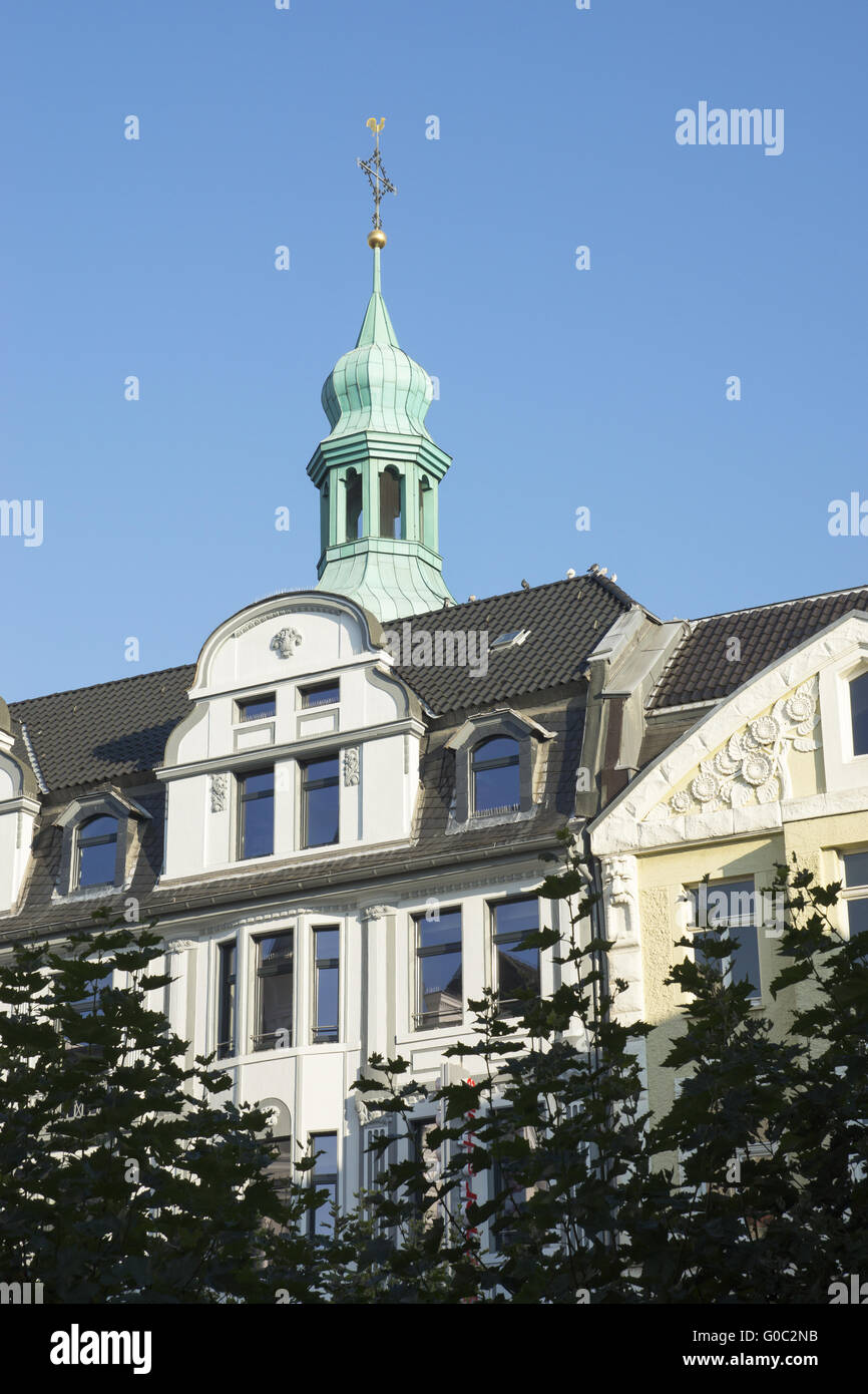 Buildings at the market place in Recklinghausen, G - Stock Image