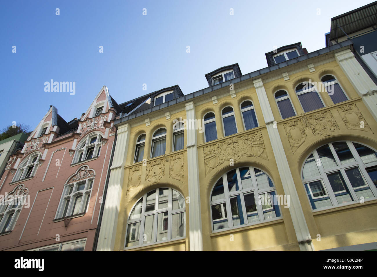 Buildings at the market place in Recklinghausen, G Stock Photo