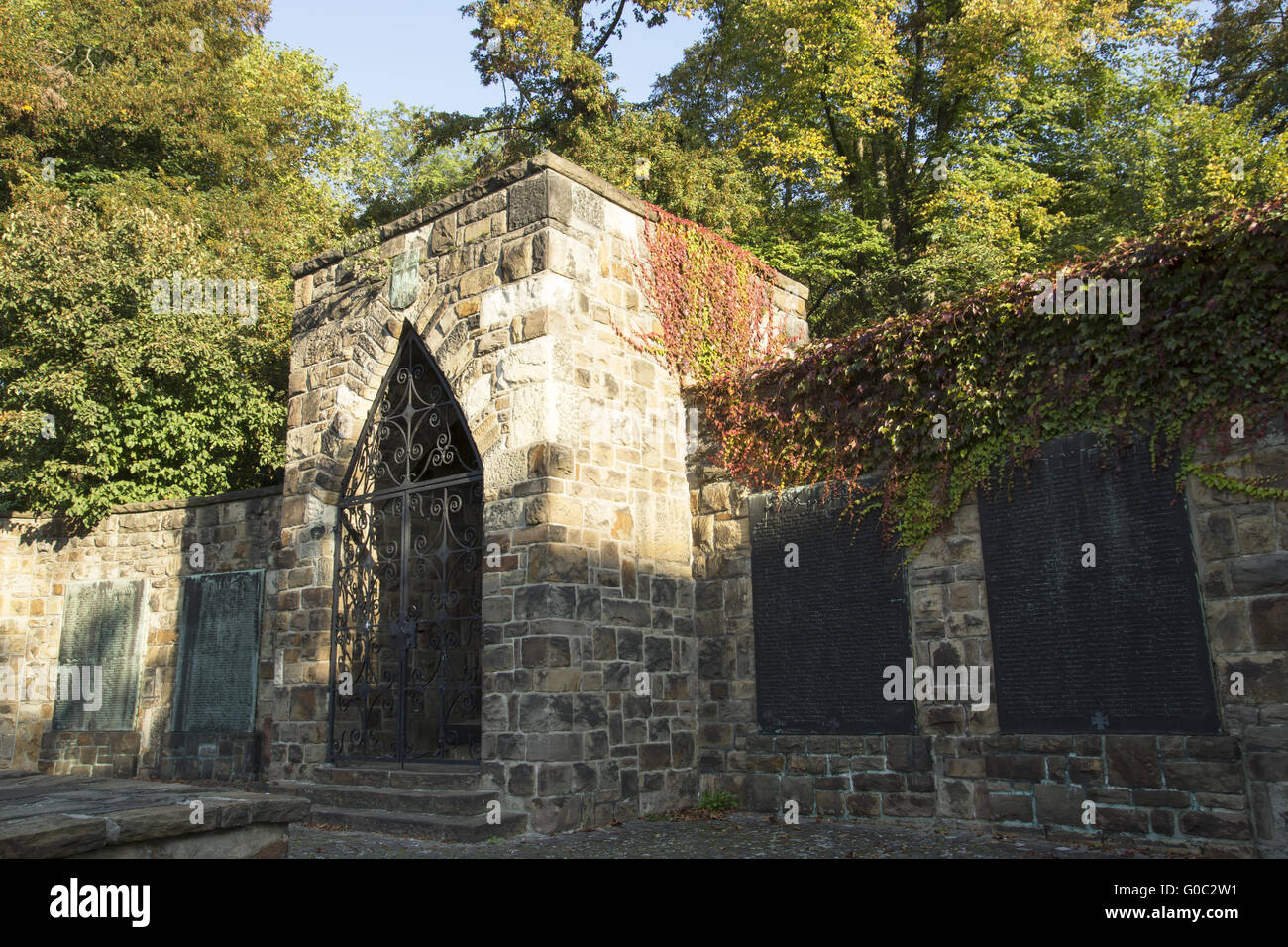 Cenotaph at the Lohtor, Recklinghausen, Germany - Stock Image