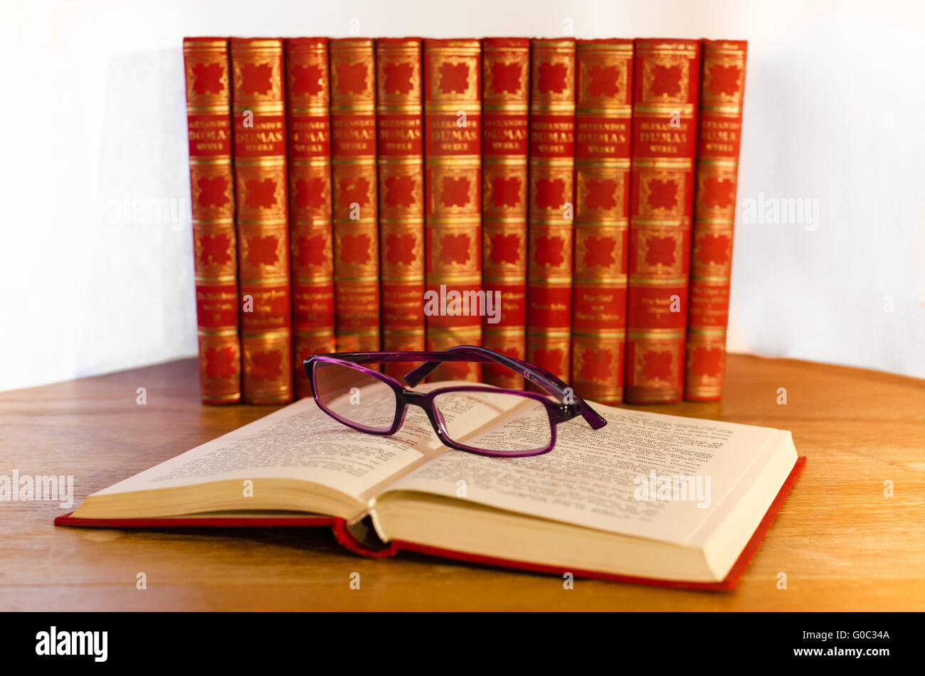 Old Books - Antiquarian - Stock Image