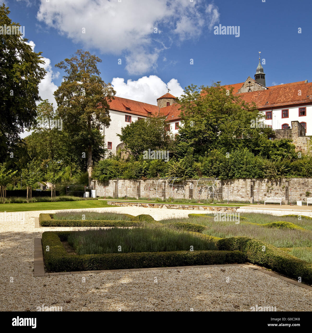 Castle and Abbey Iburg, Germany Stock Photo