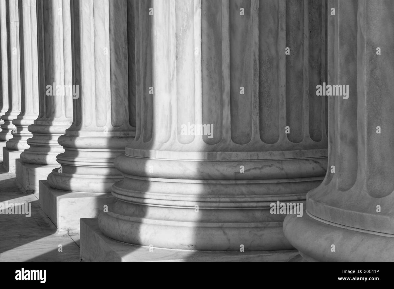 Pillars of the Supreme Court of the United States of America - Stock Image