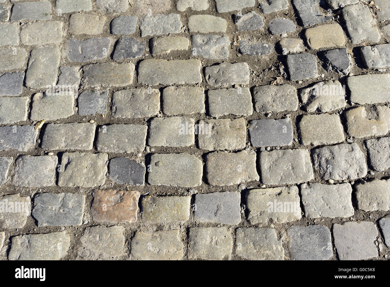 Cobblestone pavement - Stock Image