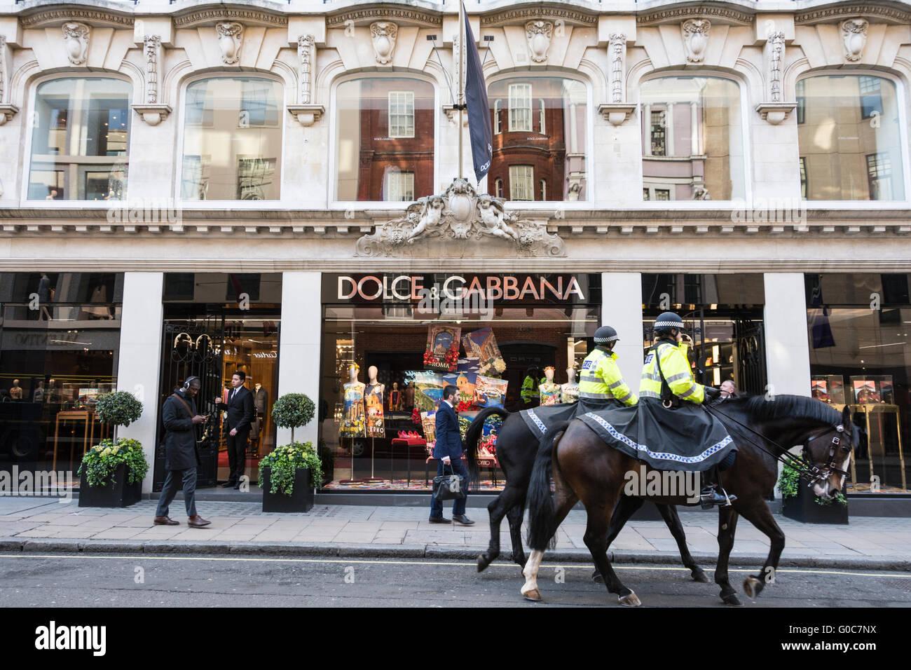 The Dolce & Gabbana store on Old Bond Street, London - Stock Image