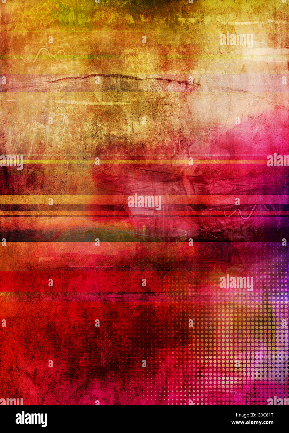 abstract subdued contemporary mixed media - Stock Image