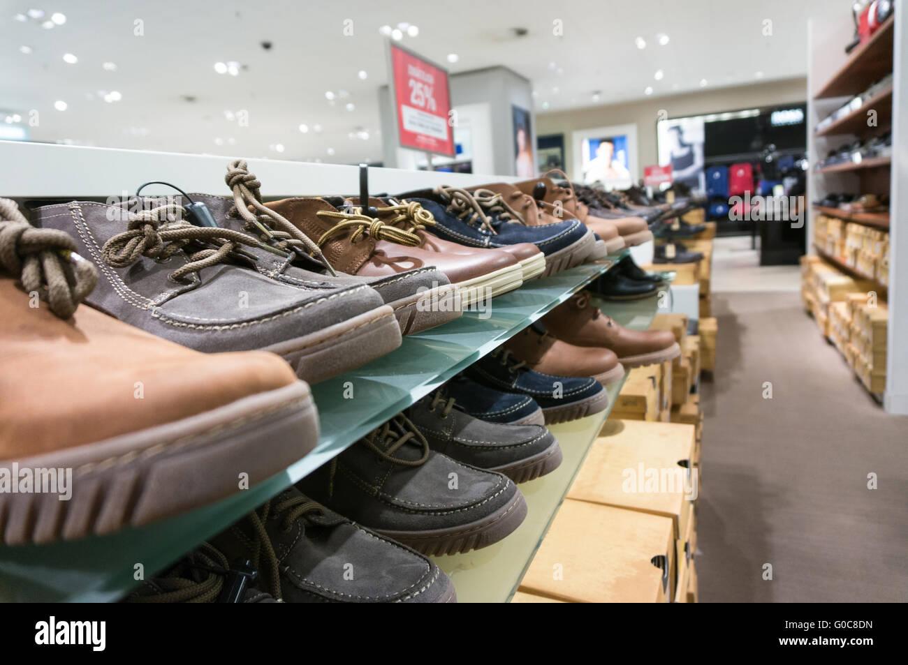 shoes on shelf - Stock Image