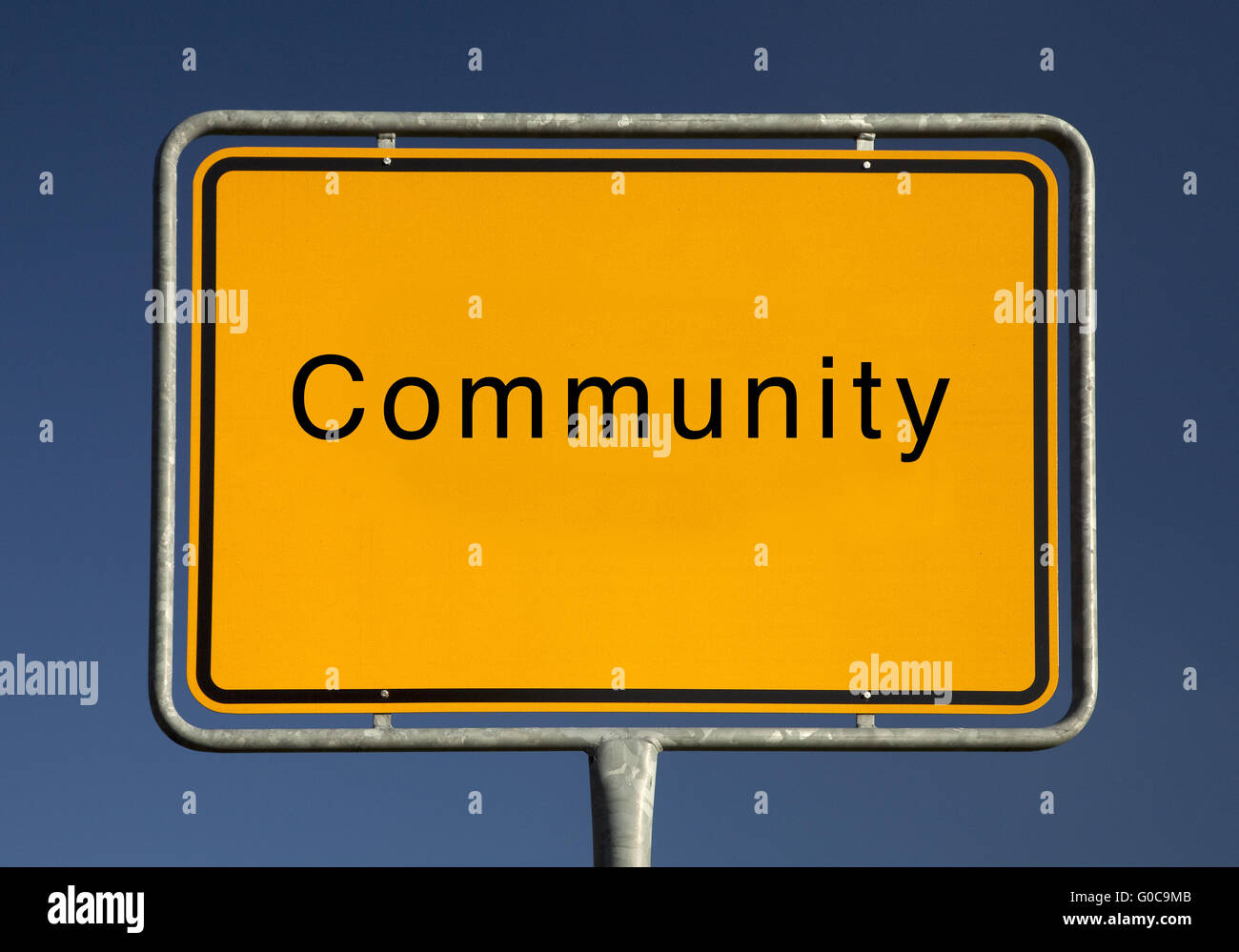 Town sign community, symbolic foto - Stock Image