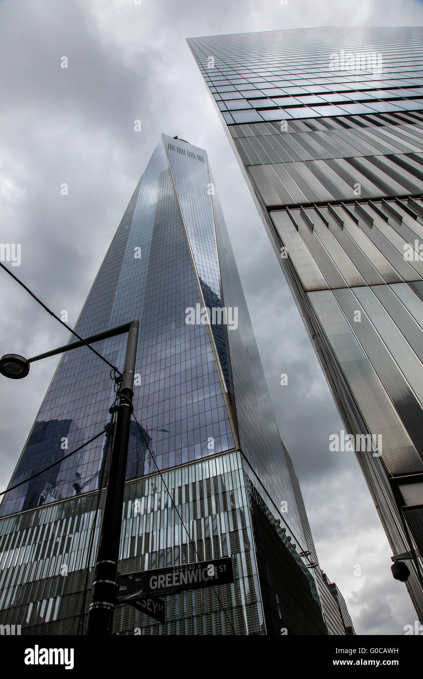 One World Trade Center The Raise The Height To  Meters High And Other Skysc R View From Greenwich Street