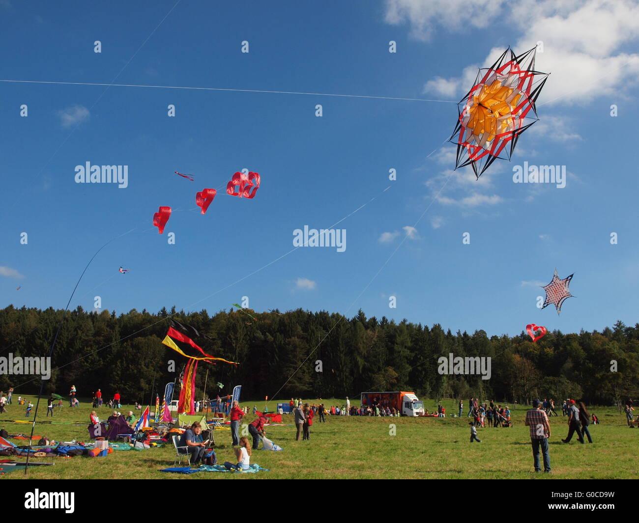 Dragon festival, kite festival - Stock Image