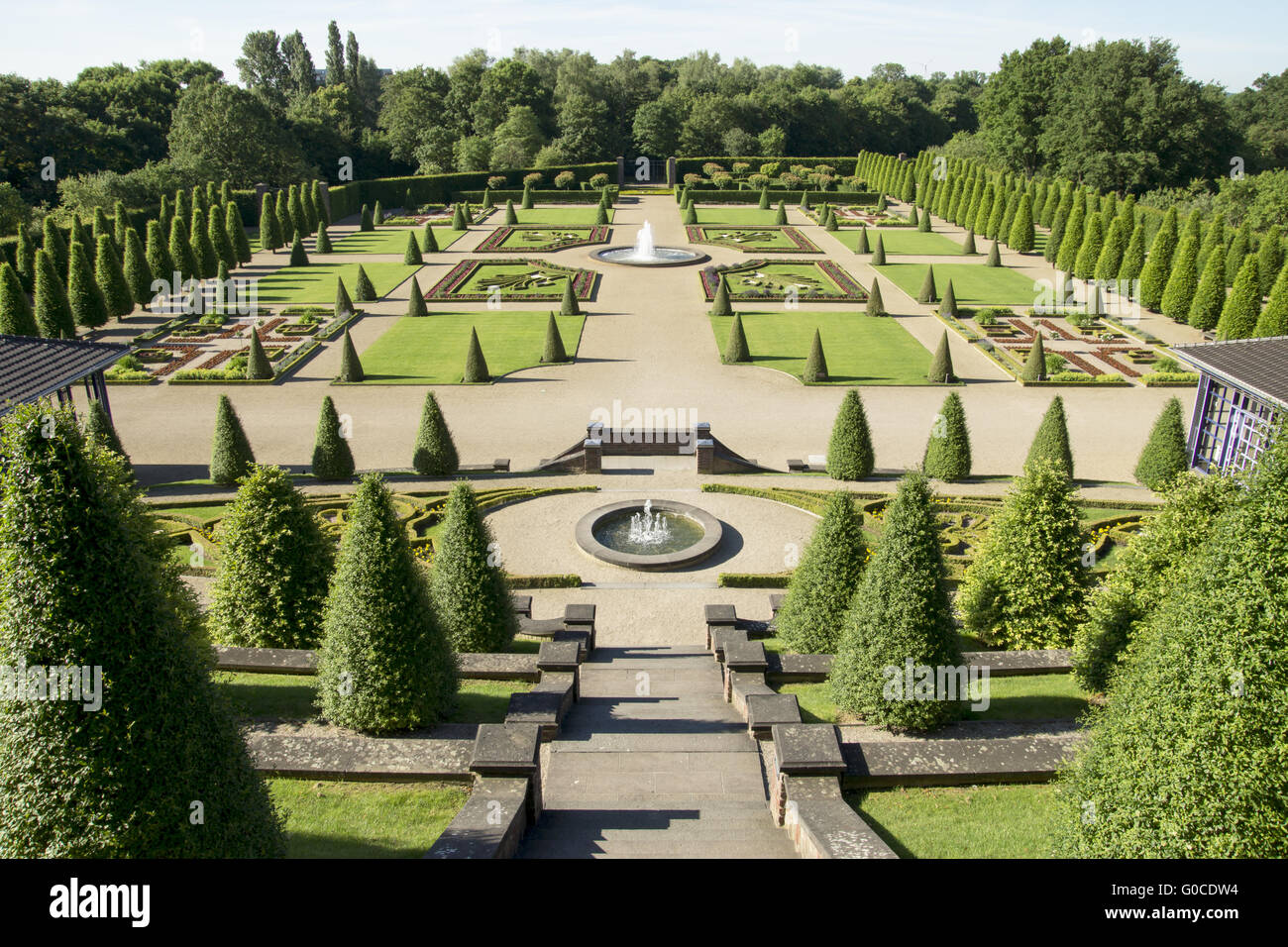 Baroque garden Abbey Kamp, Kamp-Lintfort, Germany - Stock Image