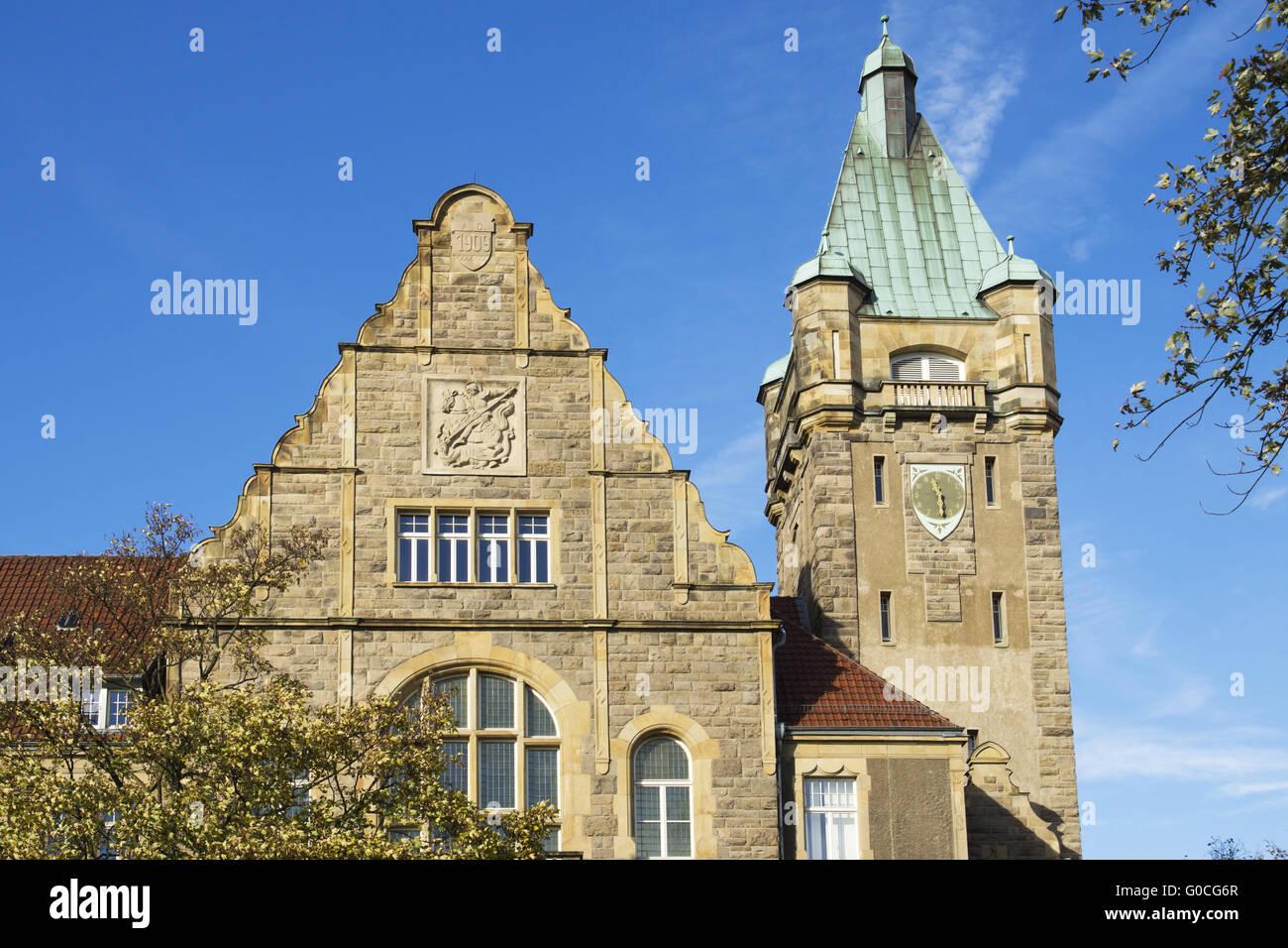 Town hall of Hattingen, Germany - Stock Image