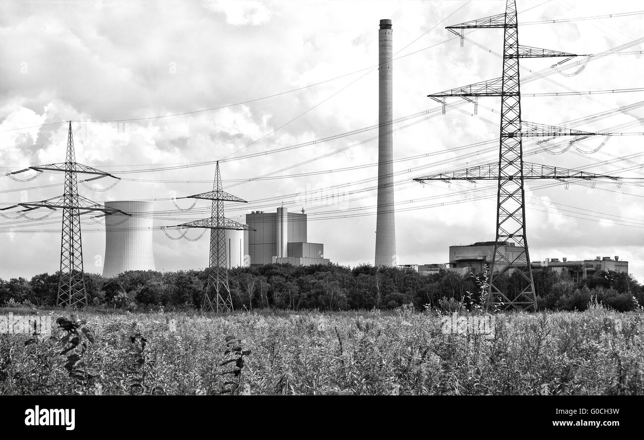 Hard coal power plant Herne - Stock Image