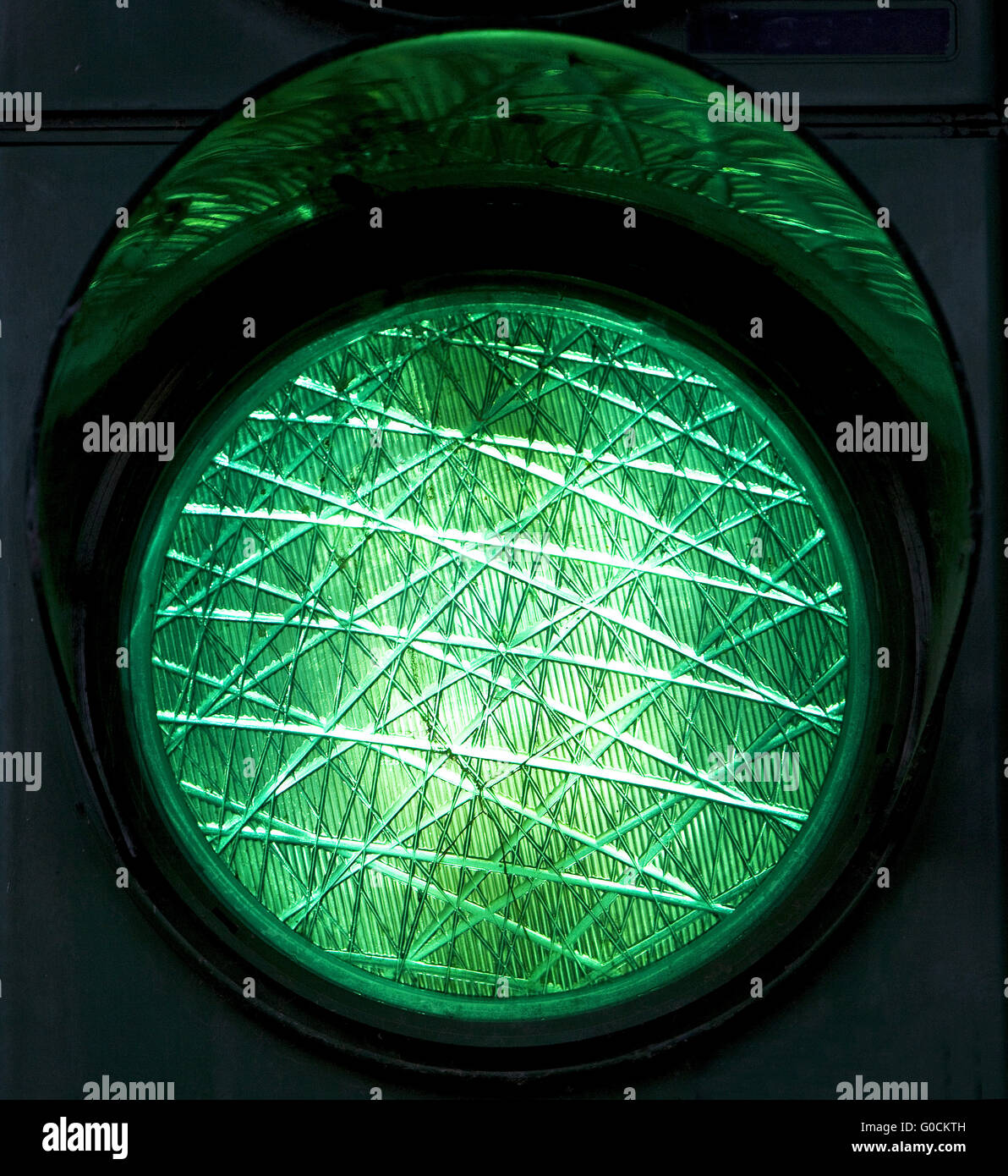 Green traffic light, Germany - Stock Image