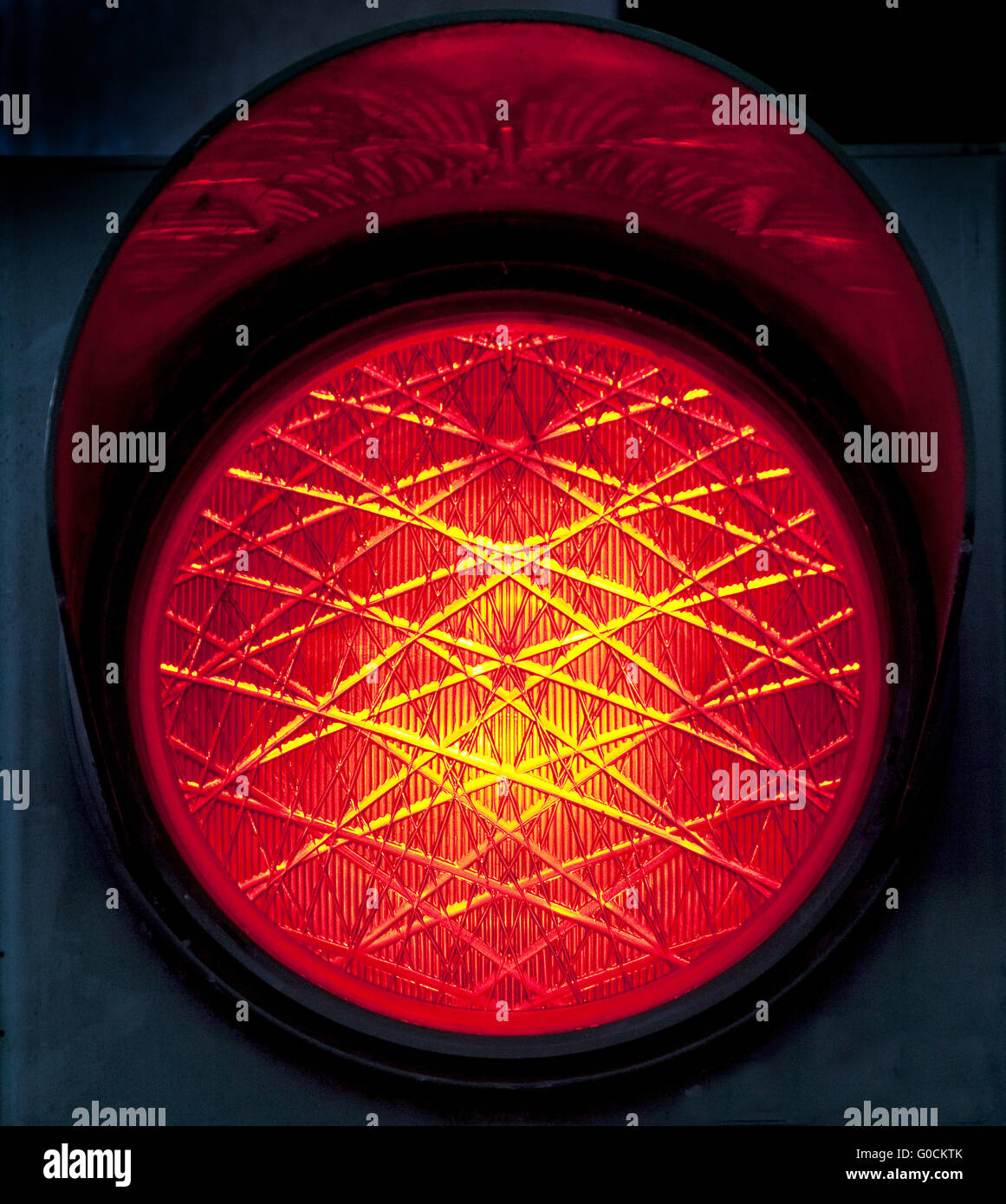 Red traffic light, Germany - Stock Image