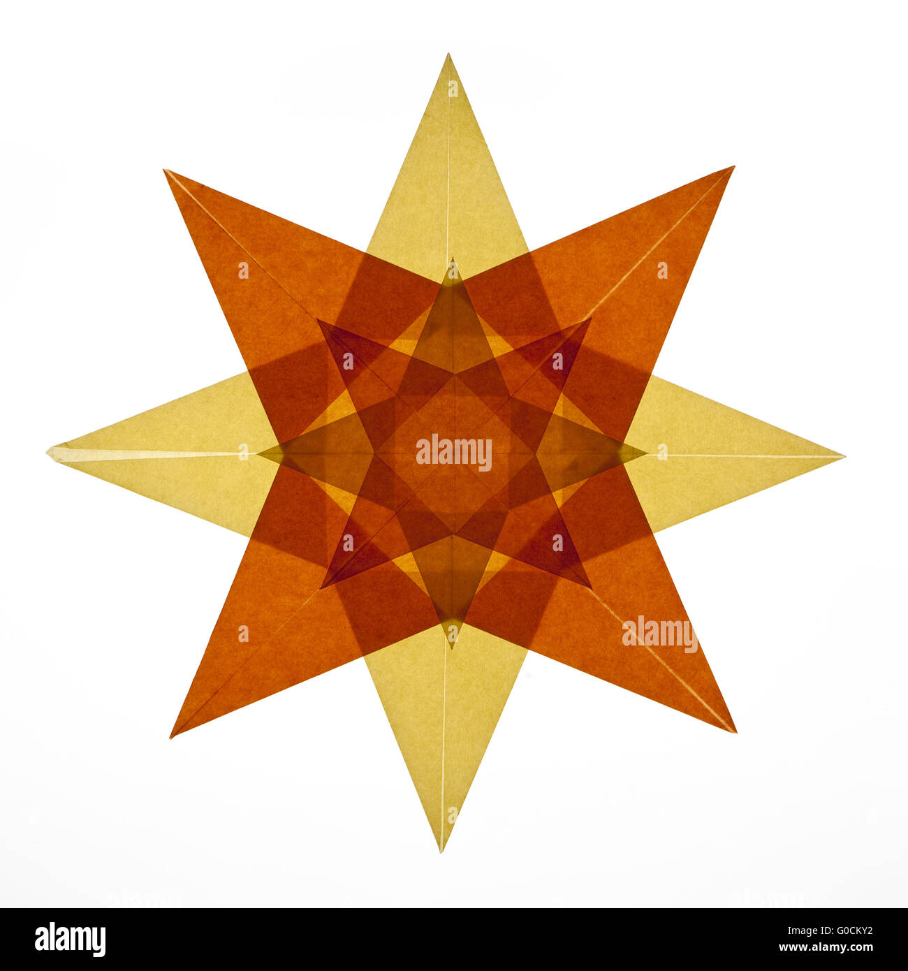 One transparent star , decoration, cutout - Stock Image