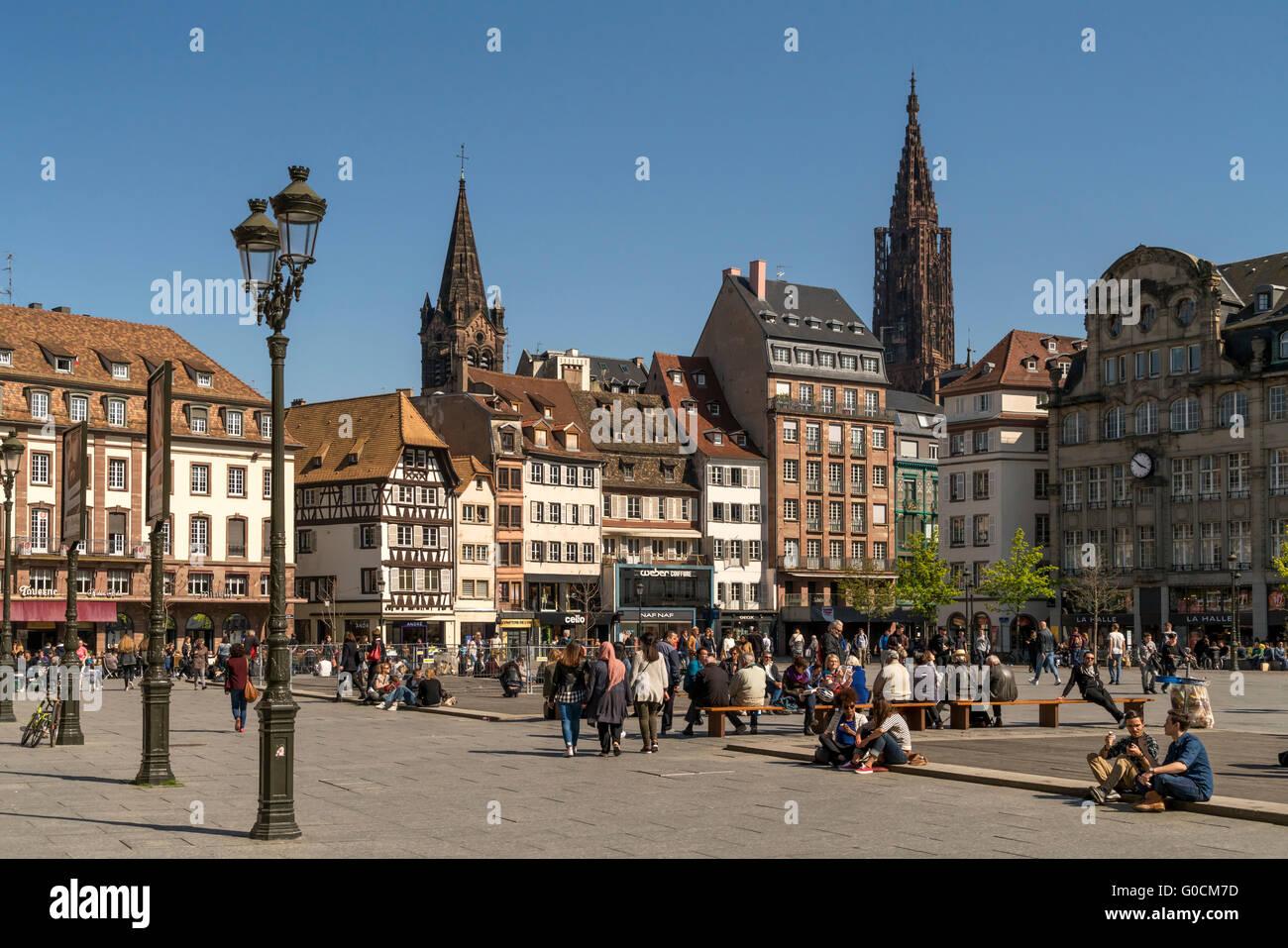 kleber place alsace square strasbourg france central alamy