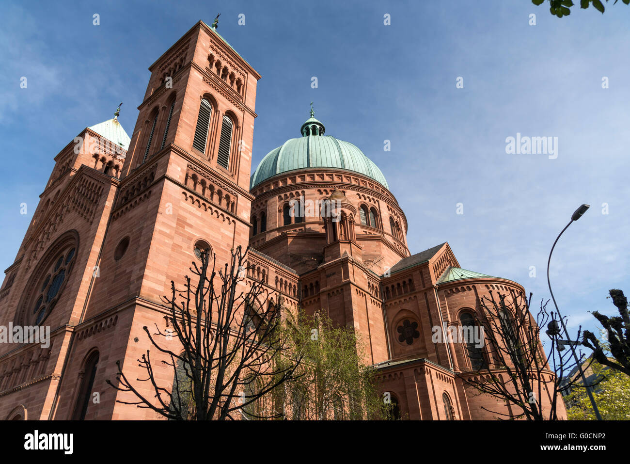 the catholic Saint-Pierre-le-Jeune church in Strasbourg,  Alsace, France - Stock Image