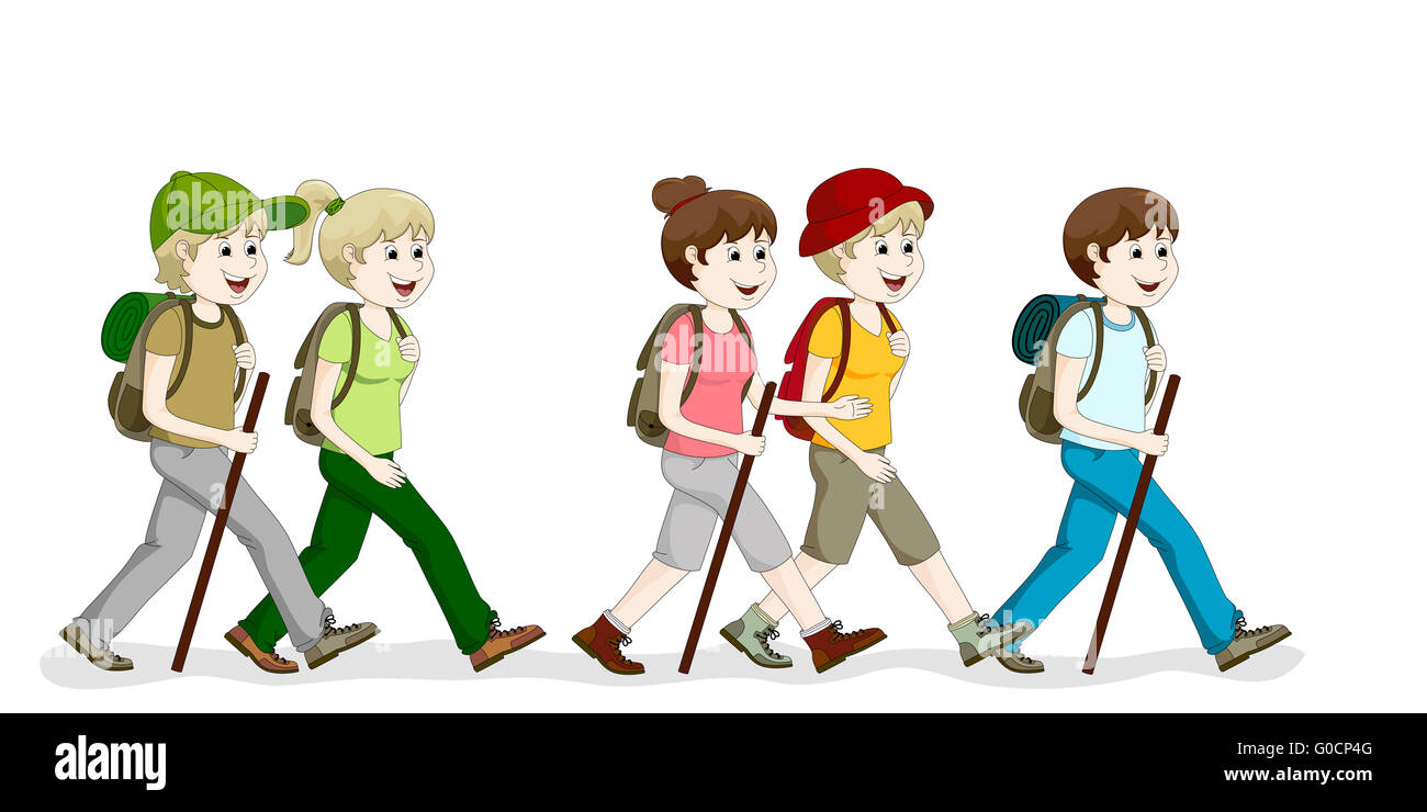 Hiking Group - Stock Image