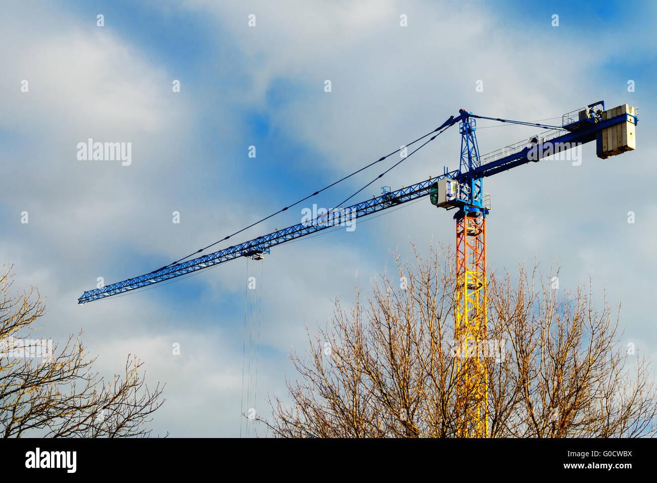 Construction crane - Stock Image