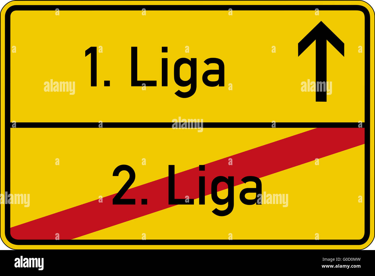 1. league and 2. league - Stock Image