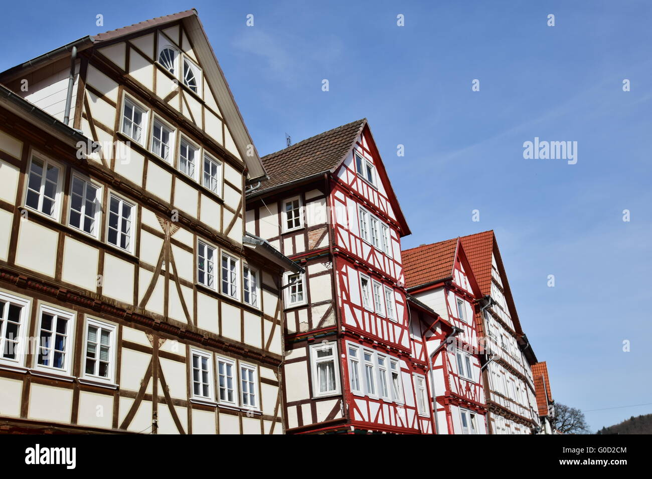 Old half-timbered house in Eschwege - Stock Image