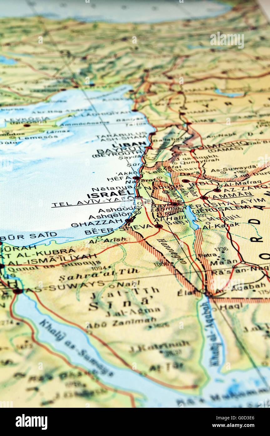 Middle East map Stock Photo 103550334 Middle