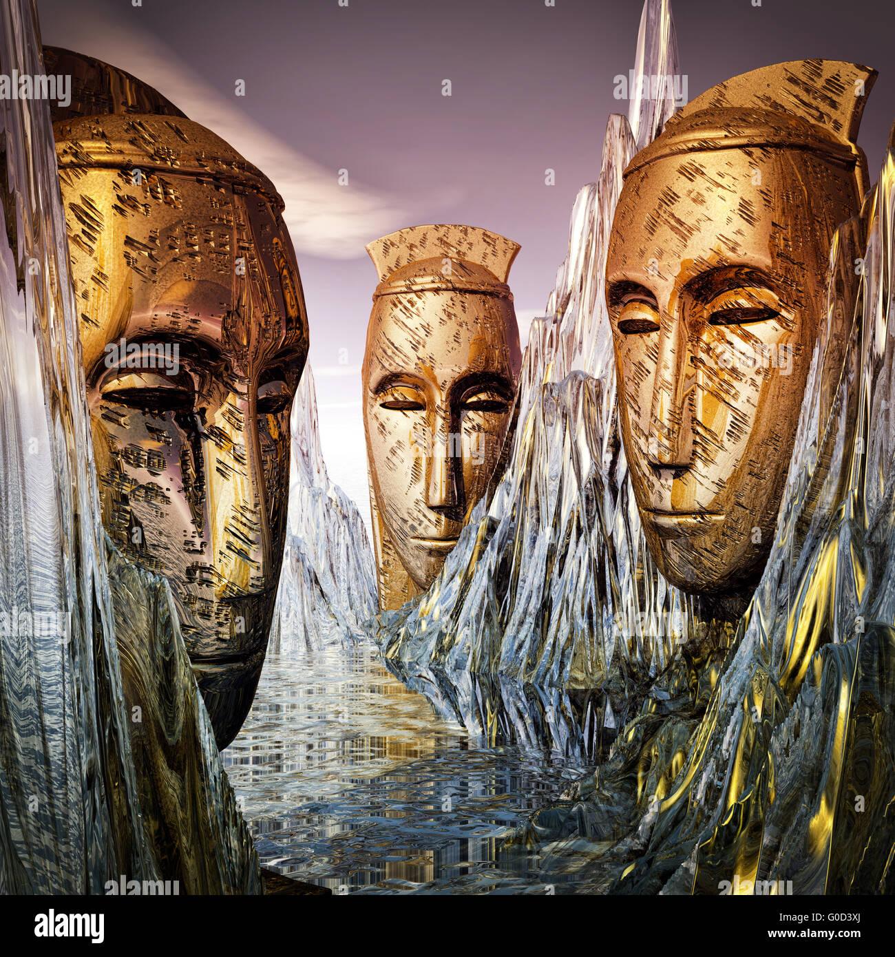 guardians of wisdom - Stock Image