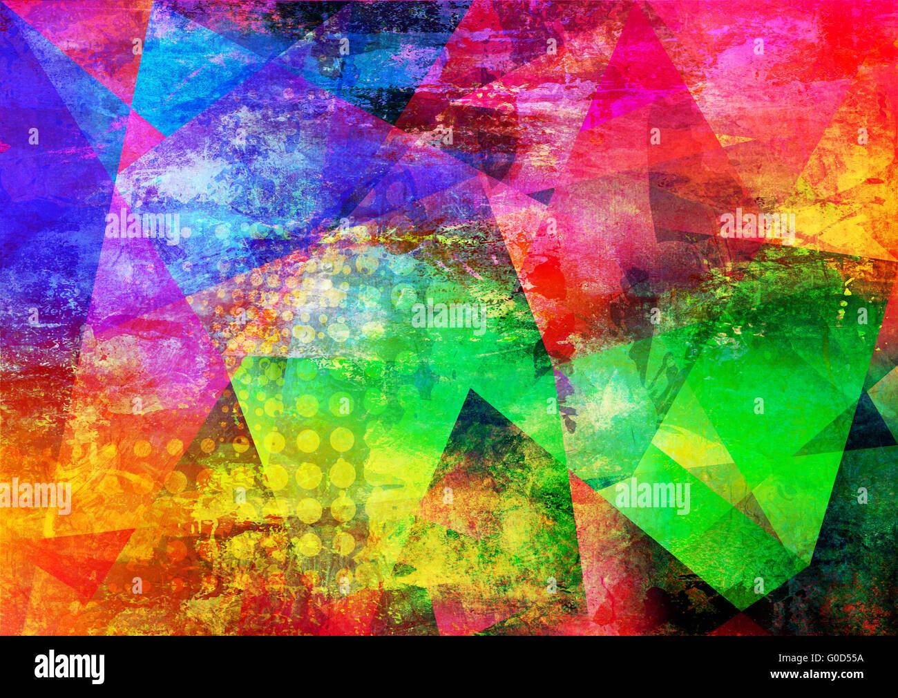 mixed media artwork - Stock Image